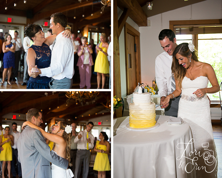 bristol harbour wedding cake, parent dances