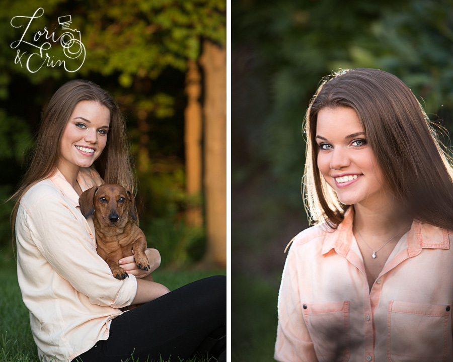senior photography with dog