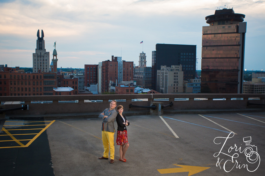 Rochester NY city portrait session, parking garage