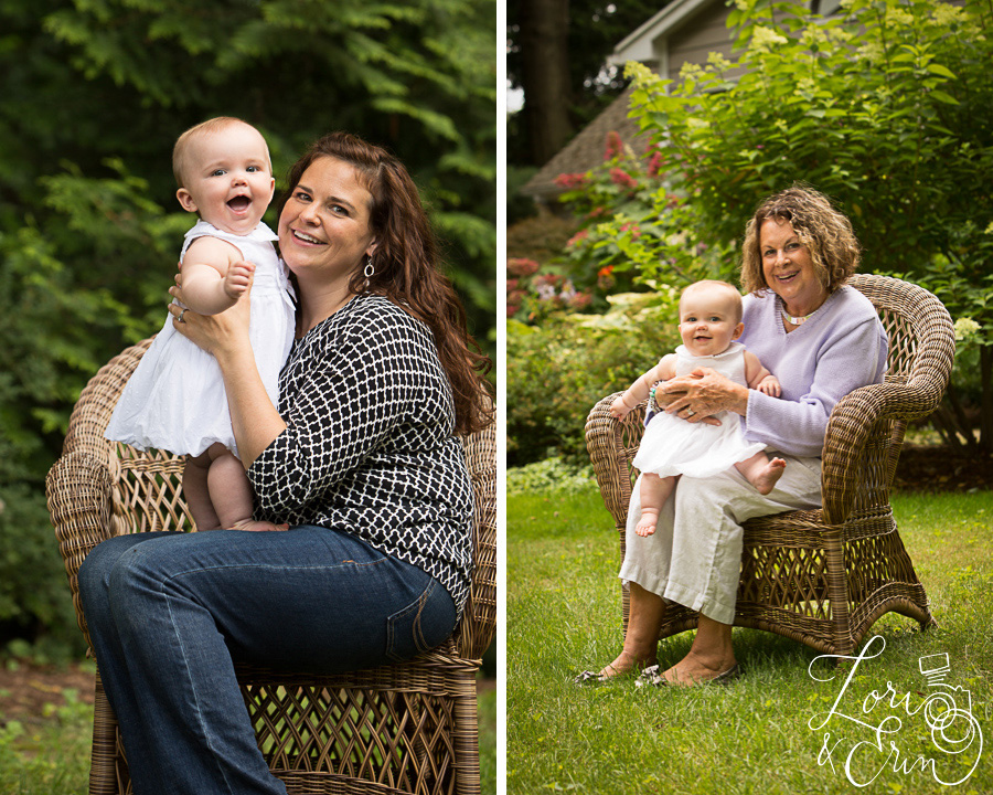 8 month old session, Rochester NY children's photography, mom and baby, grandma and baby