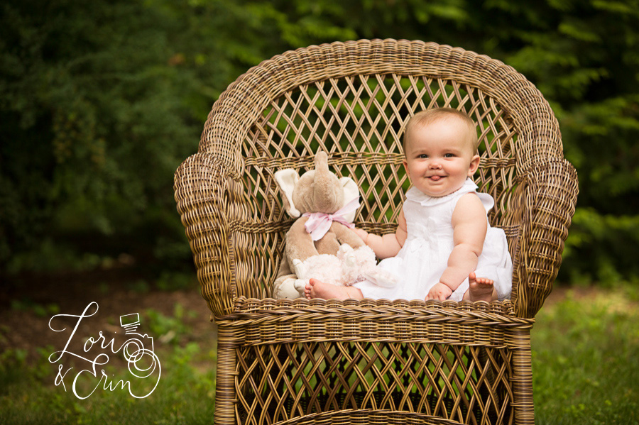 8 month old girl session, Rochester NY children's photography