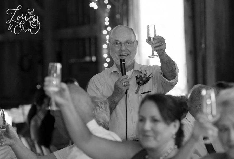 Toasts, Avon NY Wedding Photography, Barn Wedding Rochester NY, Kindred Ground Barn Avon NY Wedding