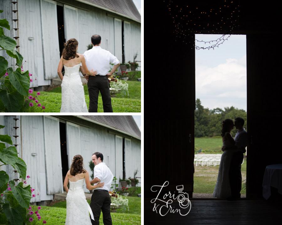 First Look, Avon NY Wedding Photography, Barn Wedding, Kindred Ground Barn Avon NY Wedding