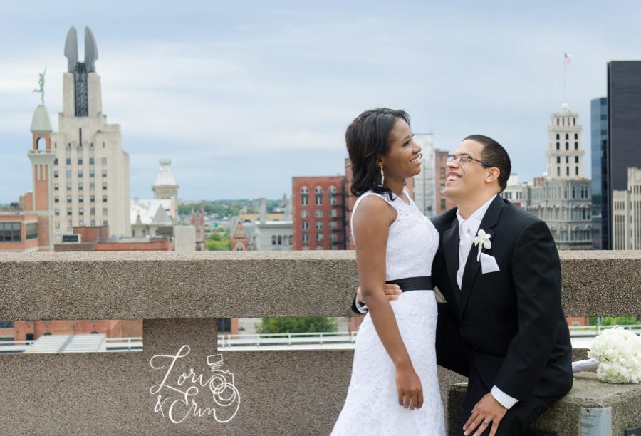 Rochester NY Wedding Photographs, City skyline