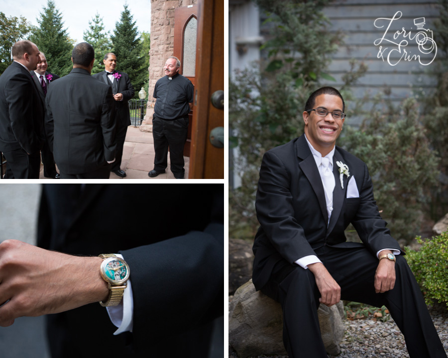 Chapel Hill Rochester NY Wedding, Groom