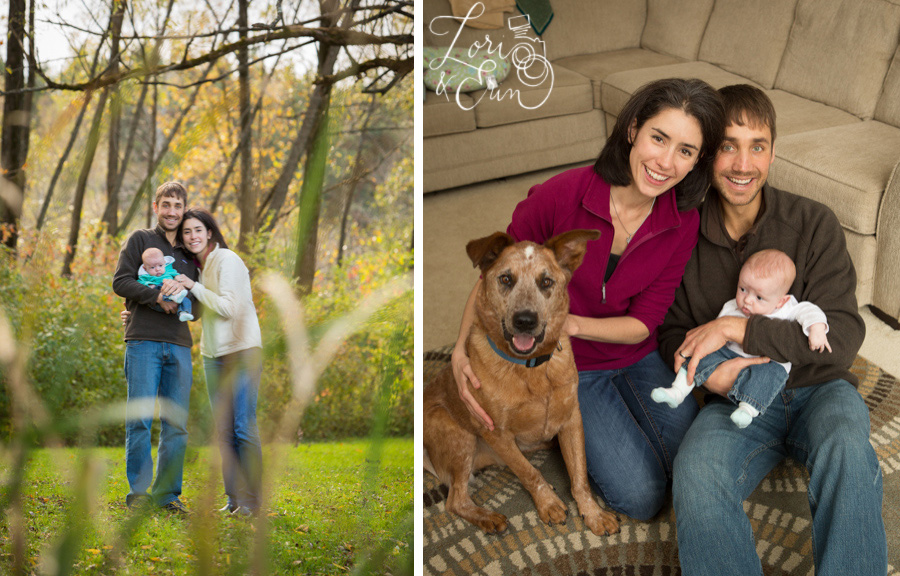family portraits with dog