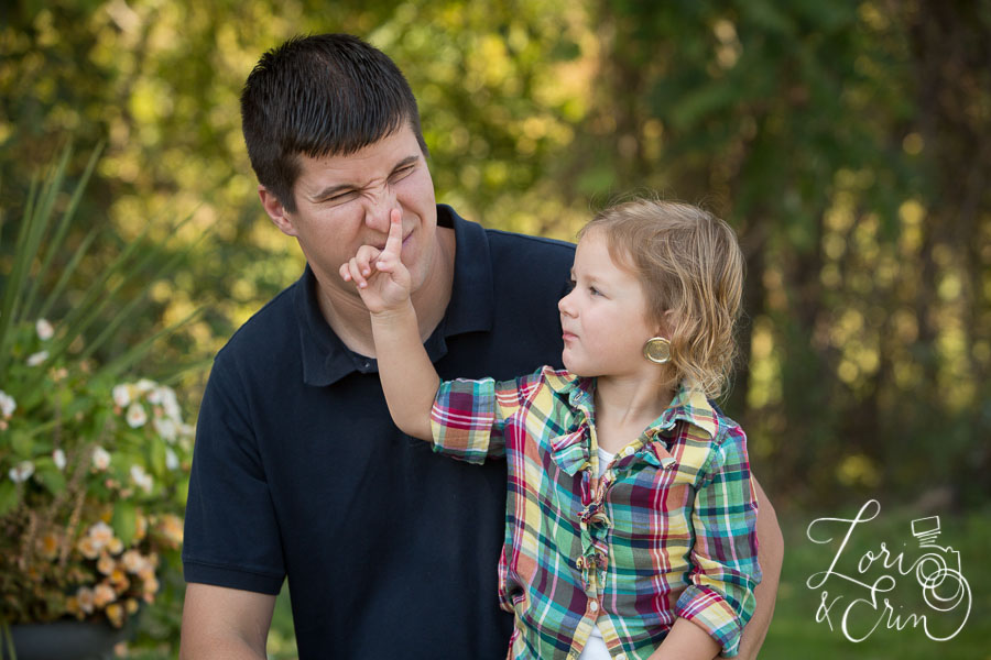 picking dad's nose