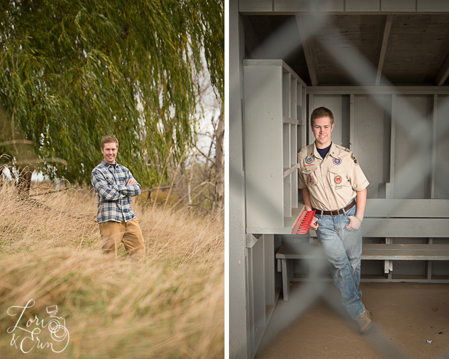boy in field/eagle scout
