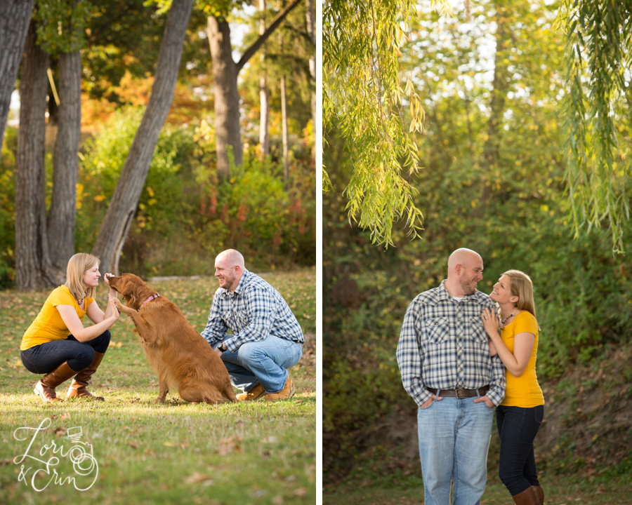 Keuka Lake Engagement Session, Keuka College