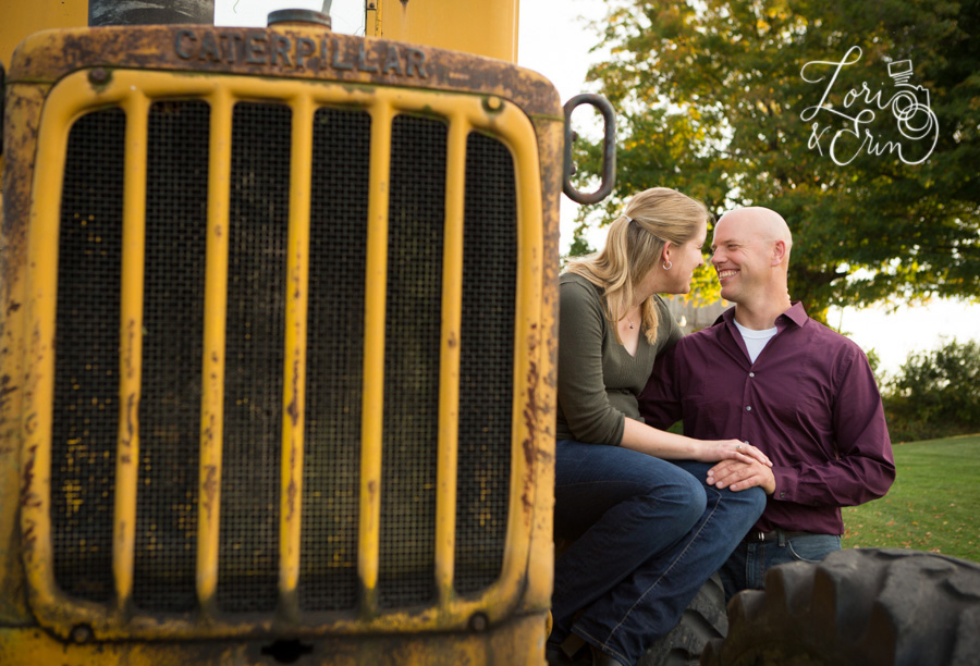 farm engagement session, waterloo ny, tractor