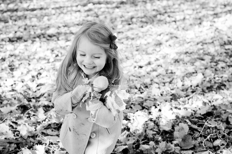 fall bw portrait