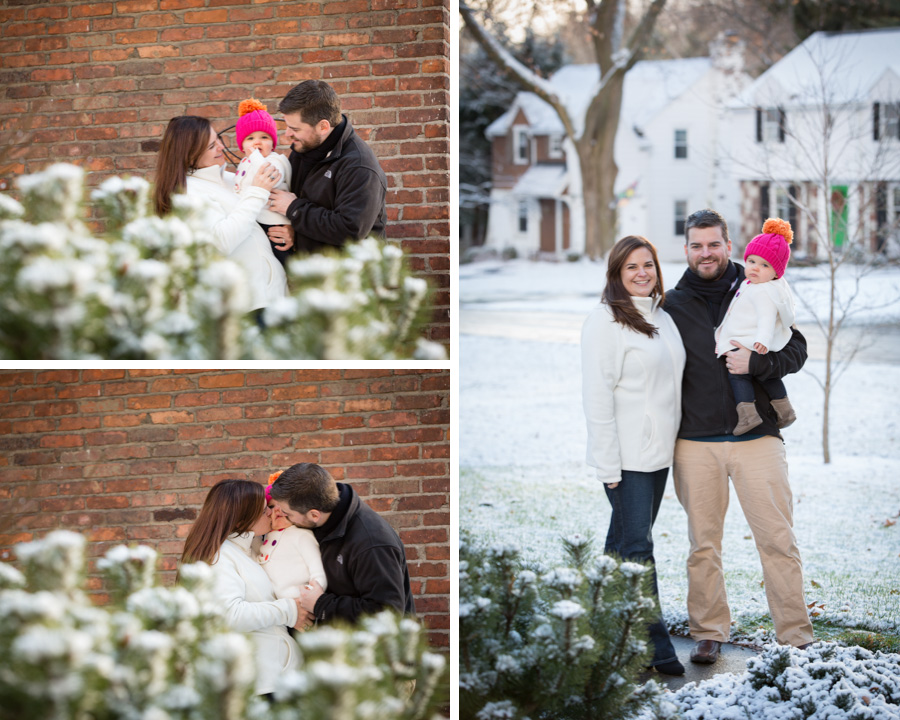 rochester ny winter portraits, family session, one year old