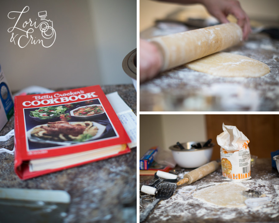 The cookbook in question, and my disastrous kitchen on cookie making day.