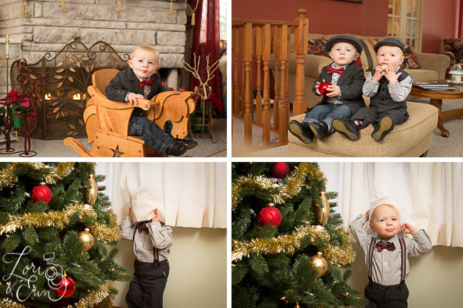 little boys at holiday time