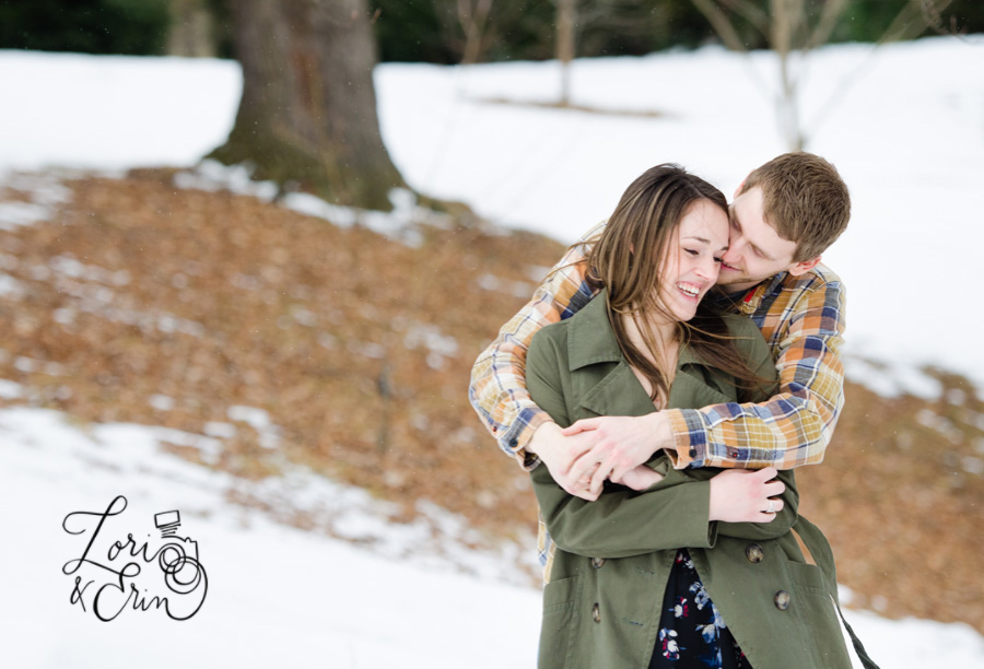 Even winter engagement sessions are fun!