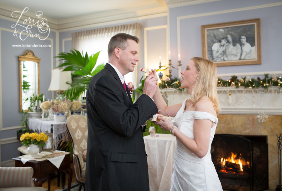 Edward Harris House Wedding, Winter indoor wedding