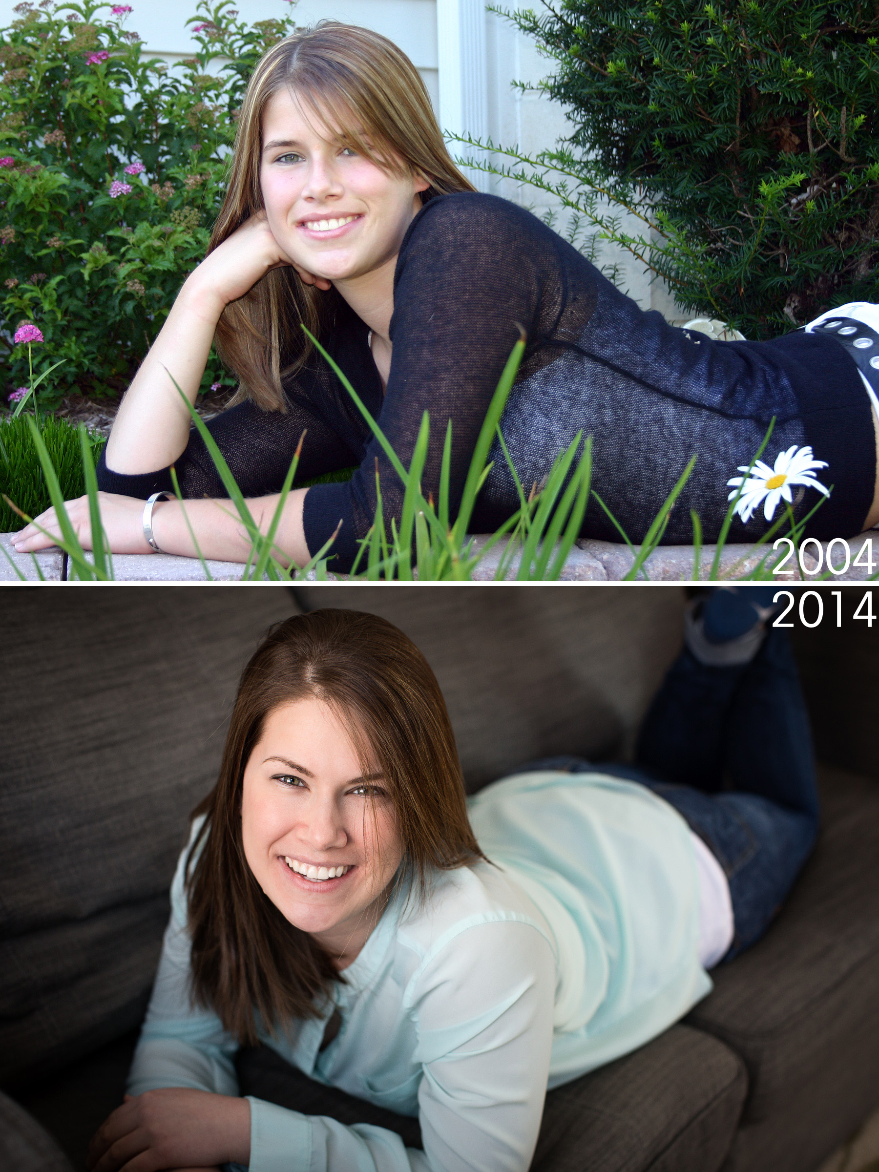 Then and now, accidentally a very similar pose!