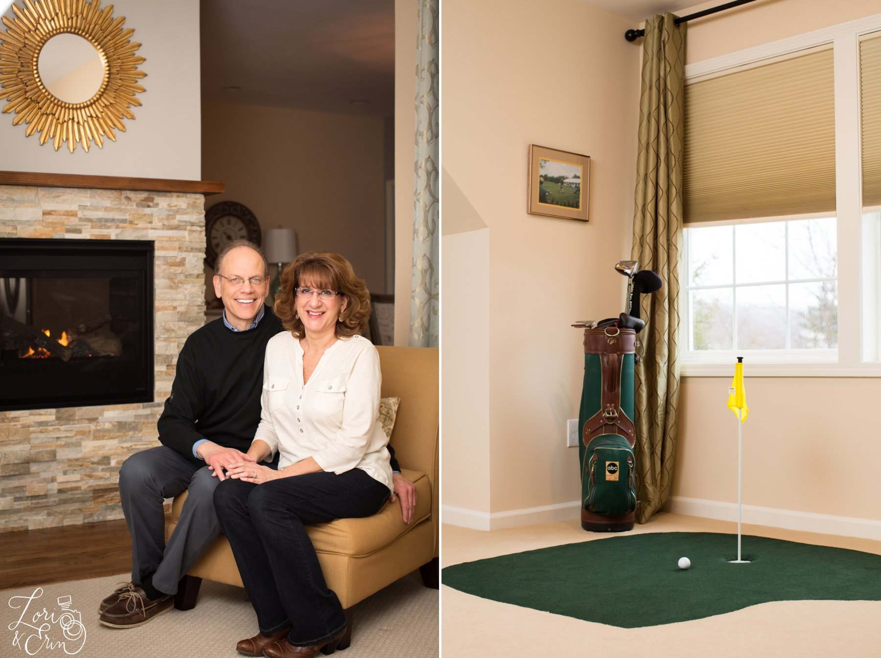 All of the neighbors seem to have golf in common, but this couple had a putting green in their bedroom!