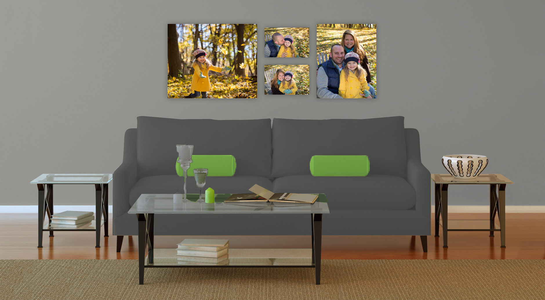 photo wall art sample