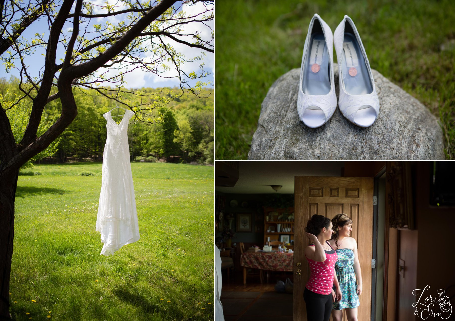 wedding dress, shoes