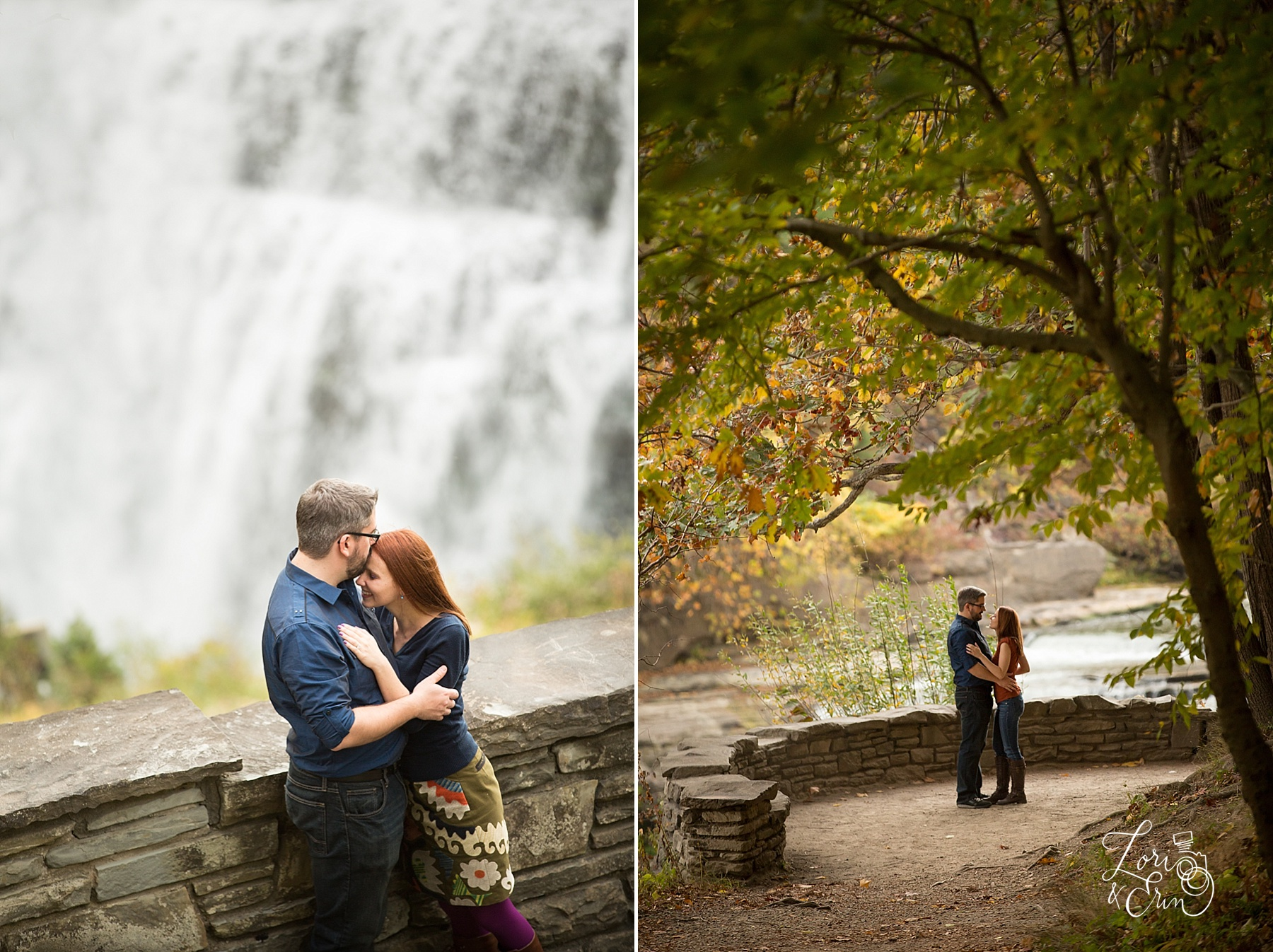 Laura and Kevin: Letchworth State Park Engagement Session — Lori ...