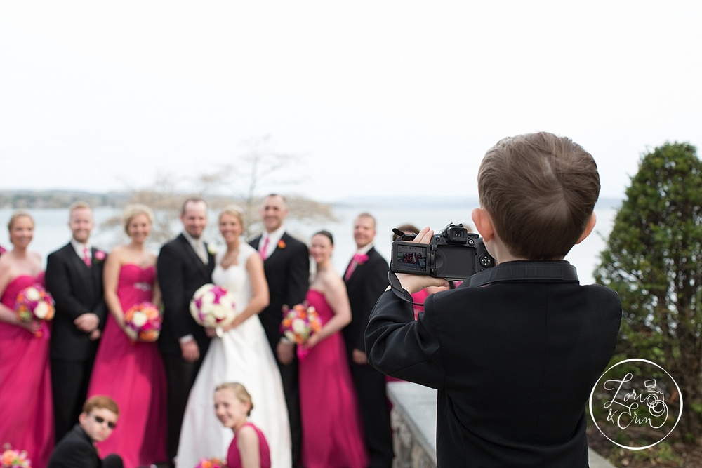 This little guy tried very hard to steal our job. Maybe someday he'll capture other amazing memories for couples!