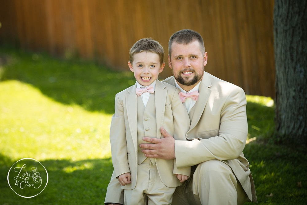 Groom and ringbearer