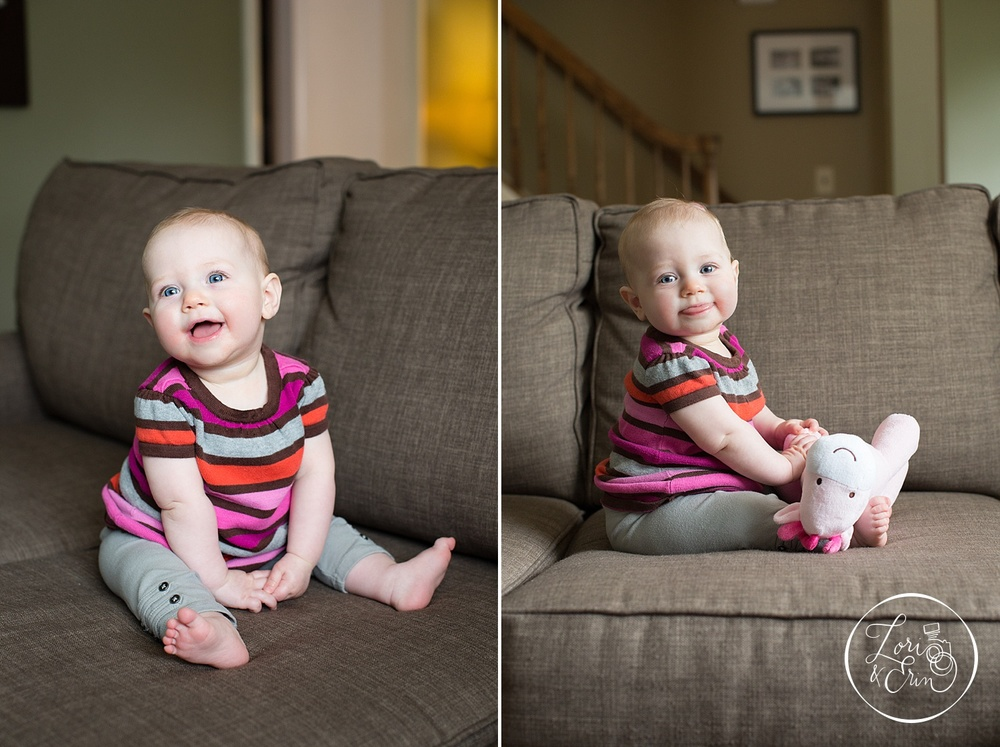 6 Month Old Baby, Rochester NY Portrait Session