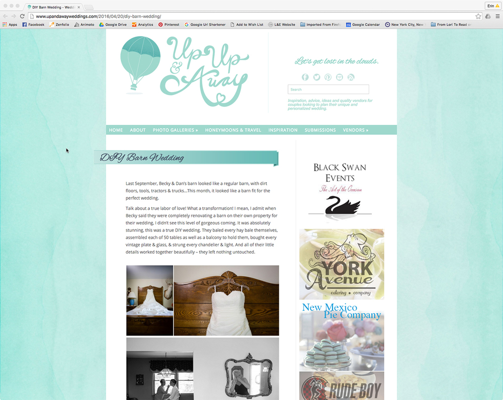 It's so exciting to see our Fingerlakes wedding photography get published!