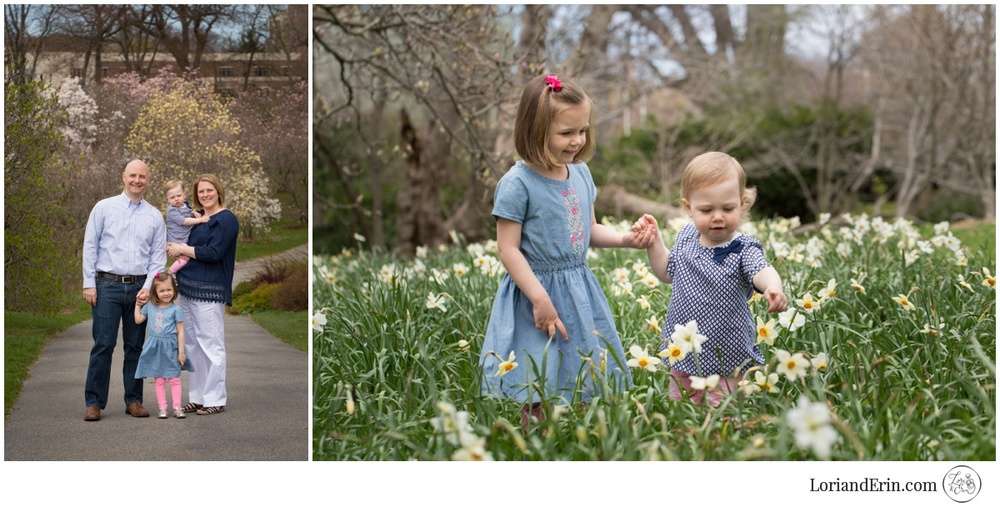 Spring Family Portrait Photography at Highland Park, Rochester, NY