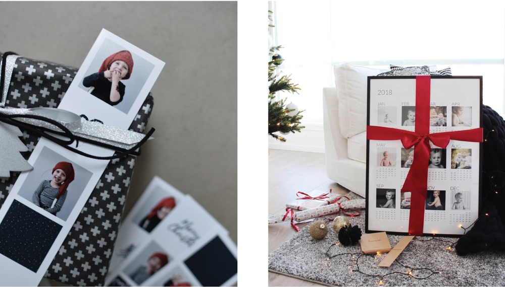 Gift decorations from Photo Strips by @karinabak and Poster Calendar from @maritfolland