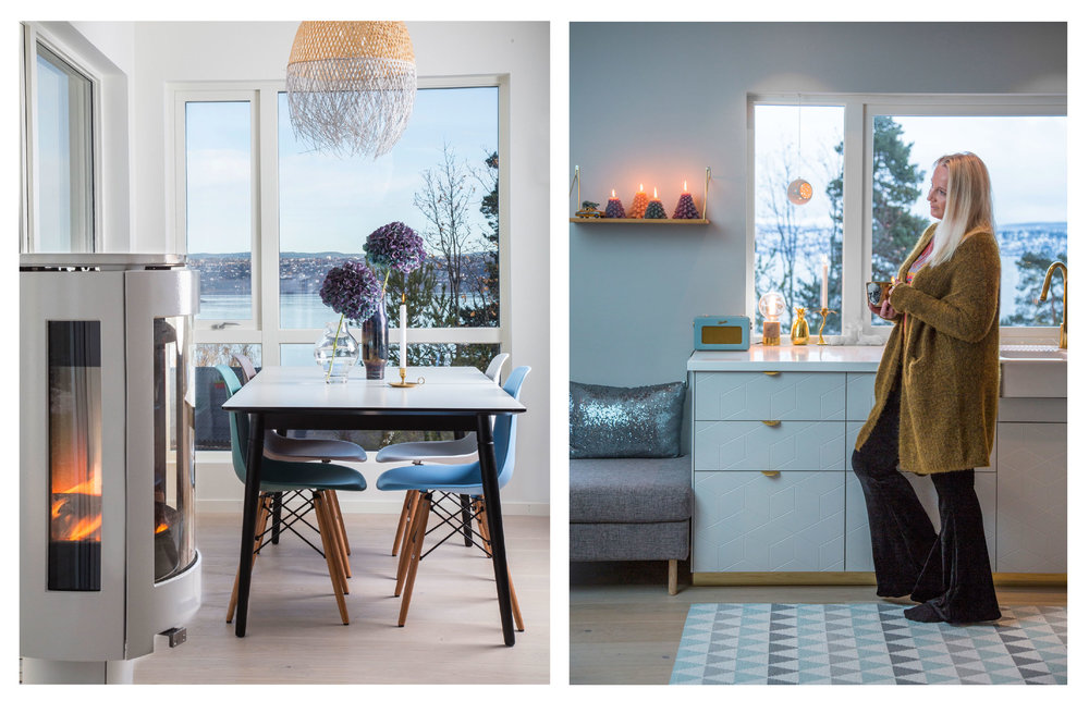Colourful details and magic views in the home of Jannicke