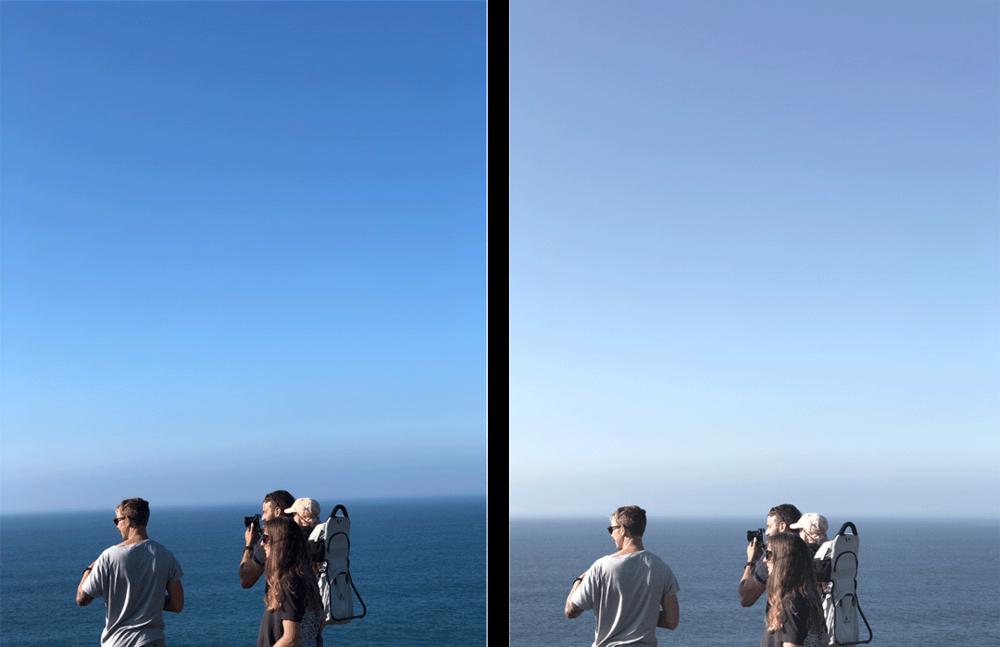 Före vs. efter redigering