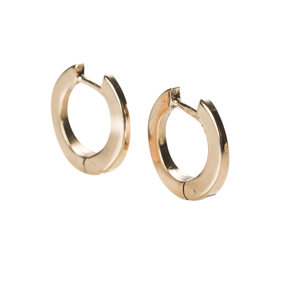 GOLDEN HOOPS  6.500 NOK   18 kt gold