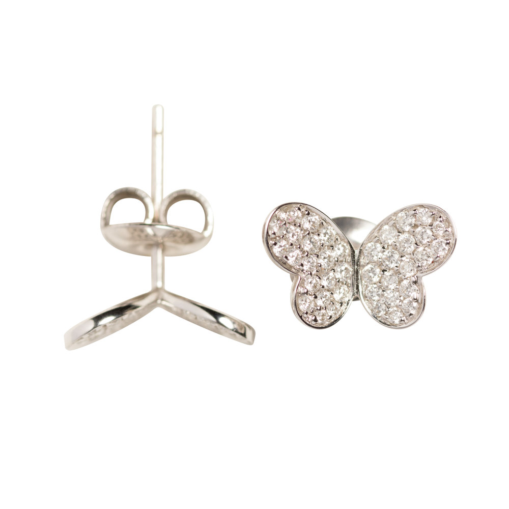 BUTTERFLY EARRINGS 25.000 NOK   18 kt white gold and diamonds