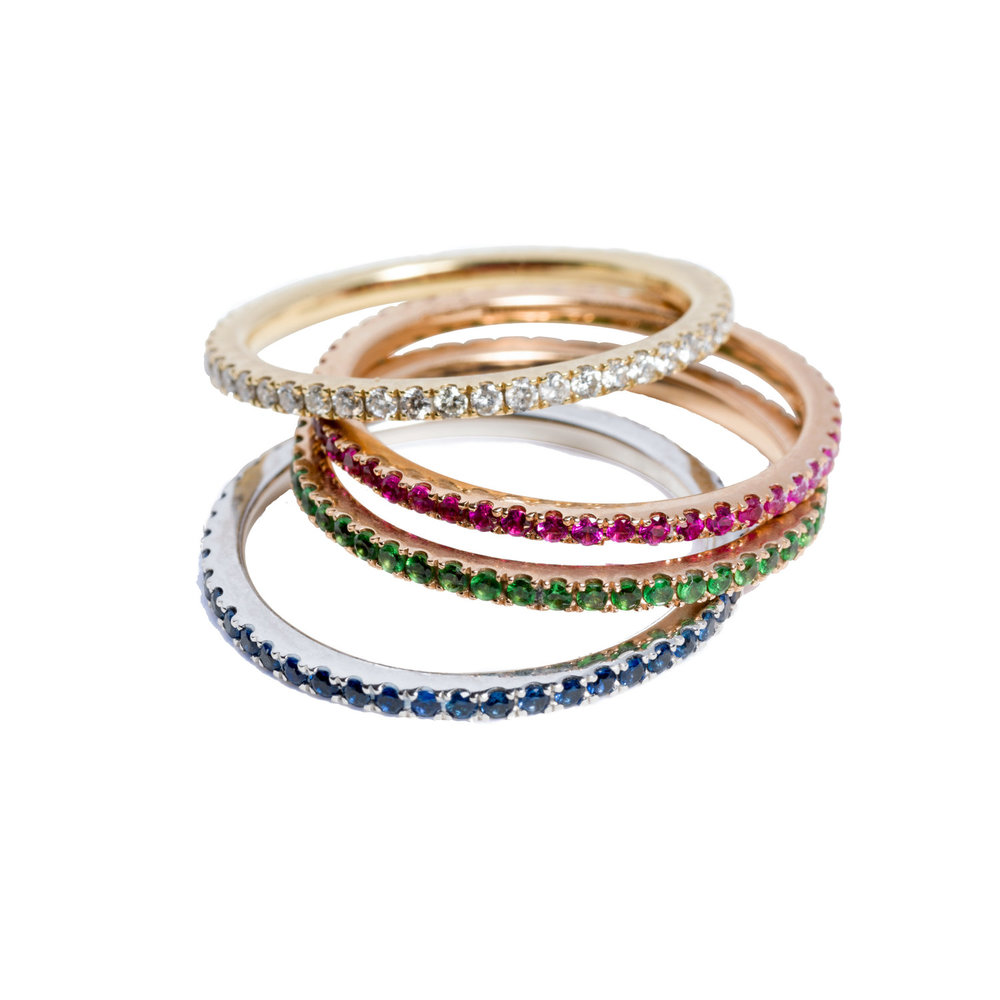 Stack of PETIT OLIVIA RINGS