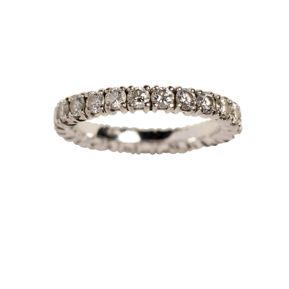 CHUNKY OLIVIA RING 40.000 NOK. 18 kt white gold with diamonds