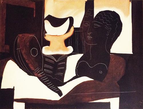 Picasso Nature Morte a la Tete Antique Modernist Collotype Fine Art ...