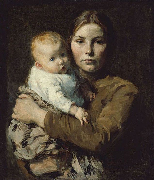 Melchers Mother And Child Fine Art Card Or Framed Miniature