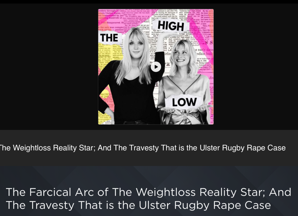The High Low - A pop-culture / news podcast created by journalists Dolly Alderton & Pandora Sykes is back! Pandora had a short maternity leave (6 weeks! Superhuman), but I would be lying if didn't say my face lit up like a Christmas tree Thursday morning when I saw a new episode.