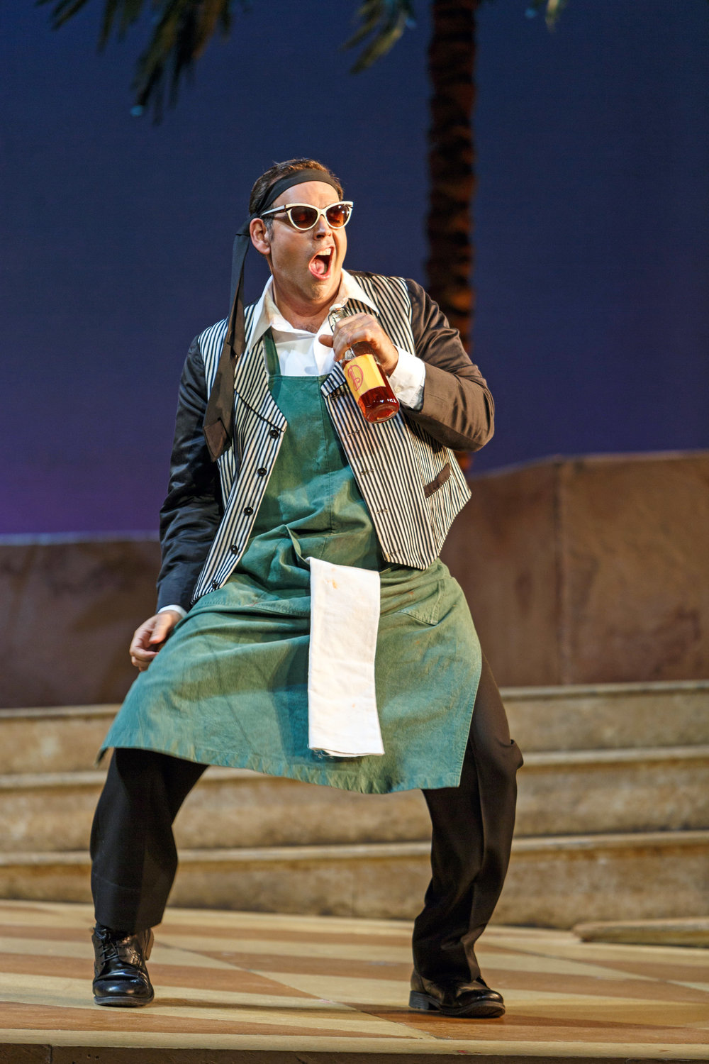 Nemorino (Dimitri Pittas) has newfound swagger after consuming the Elixir of Love