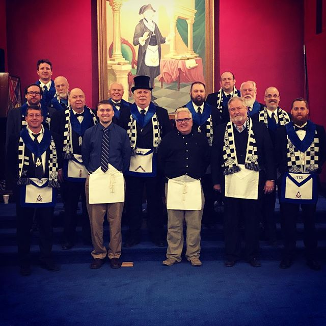 We welcomed two new brothers to the Craft on Monday! . . #freemason #freemasonry #freemasons #enteredapprentice #afam #minnesota #excelsior #lakeminnetonka #lodge #brothers #level #square #compass #goergewashington #free #mason #craft #party #celebrate #scottishrite #yorkrite #blue #lodge #bluelodge @waterstreetexcelsior @andrewpunch @the_handy_hamilton @_semihayhan
