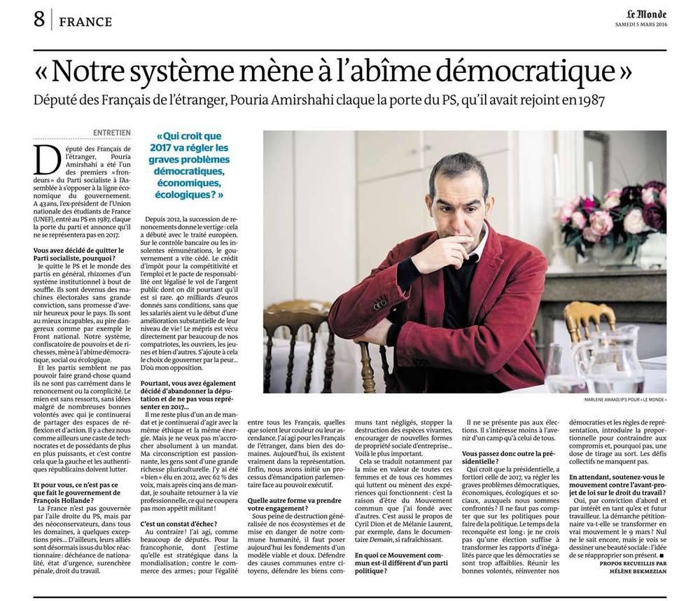 Le Monde - 5 mars 2016 © Marlène Awaad.jpg