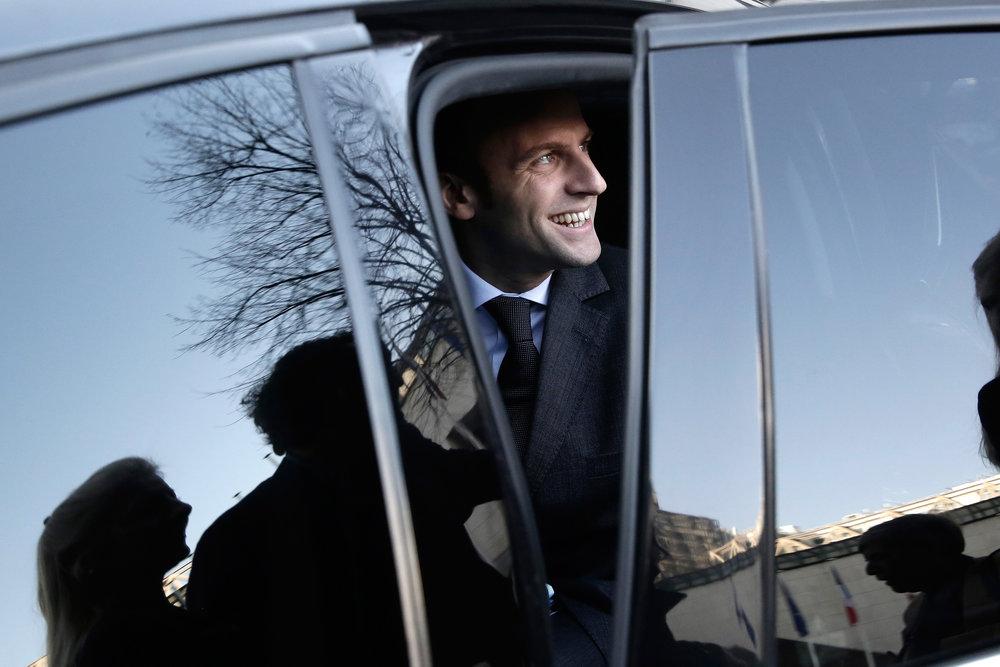 2015 -Emmanuel Macron au Ministère de l'Economie © Vincent Isore / IP3