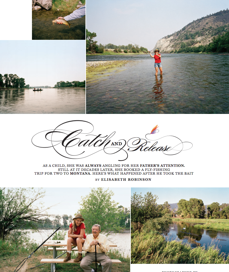 Montana Fishing Story in April issue of More!
