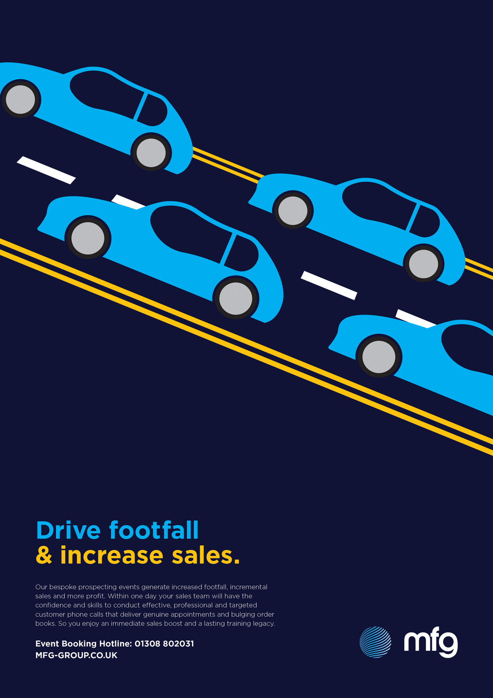 MFG Automotive Management print advert