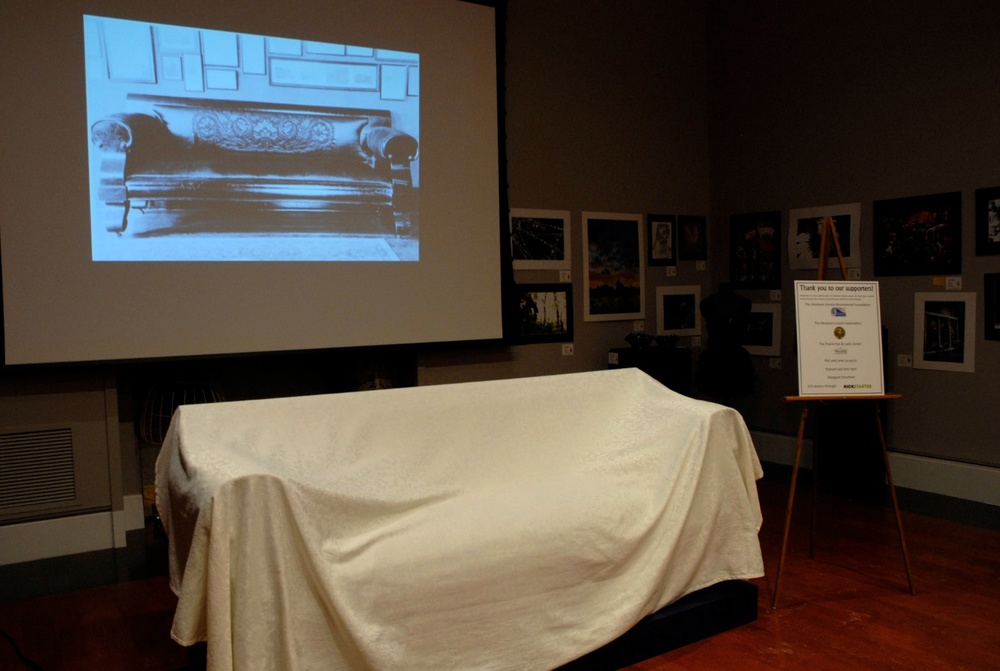 "Lincoln ""Courting Couch"" Unveiling Event, Springfield Art Association: February 11, 2014"