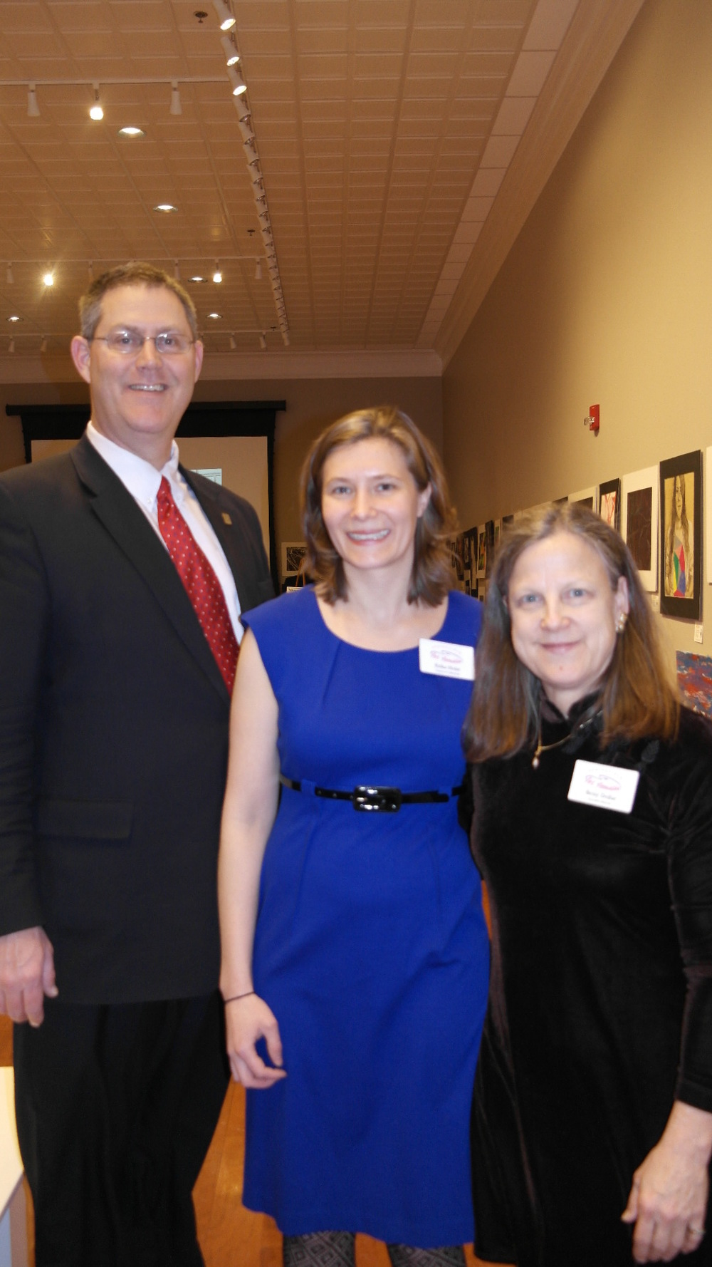 Steve Myers – Past president of the board of the Springfield Art Association Erika Holst – Curator of Collections, Springfield Art Association; Betsy Dollar – Executive Director of the Springfield Art Association