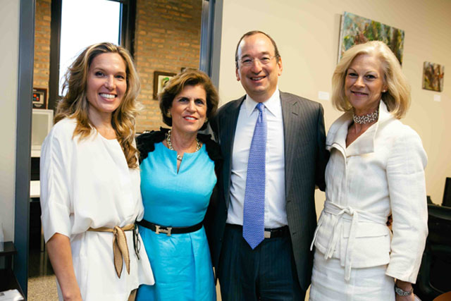 Heather Becker, Joan Steel, Steve Koch, Christie Hefner