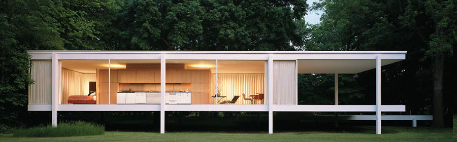 The Farnsworth House in Plano, Illinois